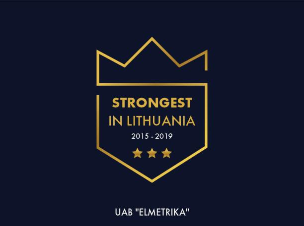 Sertifikatas strongest 2015-2019
